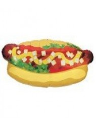 Betallic Hotdog Shape Foil Balloon Size  32 Inches