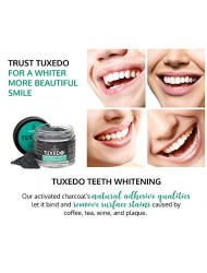 Tuxedo Teeth Whitening Activated Charcoal Powder, All Natural Tooth Whitener with Coconut Charcoal, and Bentonite Clay, Highest Quality Non Abrasive Safe on Enamel (Mint)