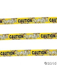 Fun Express - 1 Caution Zombies Party Tape Roll, (20 inches) (2-Pack)