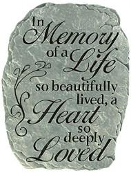 "Carson, Garden Stone ""In Memory"""
