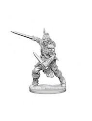 WizKids Pathfinder: Deep Cuts Unpainted Miniatures: Human Male Fighter