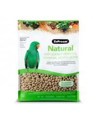 ZuPreem Natural with Added Vitamins, Minerals, Amino Acids Medium/Large Bird Food,3 lb.