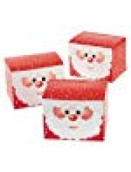 1 Dozen - Santa Gift Treat Boxes - Christmas Santa Claus Boxes for Presents and Candy