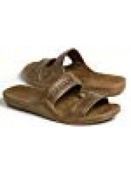 Pali Hawaii Unisex Adult Classic Jandal Sandal (Brown, 7)