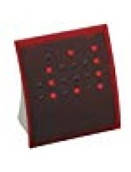 Anelace Powers of 2 Binary Code Clock Classic Red with Red Lights