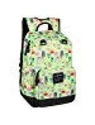 "JINX Minecraft Overworld Sprites Kids Backpack (Green, 17"") for School, Camping, Travel, Outdoors & Fun"