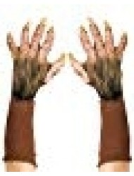 Zagone Beast Gloves, Brown Faux Fur, Yellow Nails, Gloves