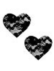 Neva Nude Vogue Black Lace I Heart U Nipztix Pasties Nipple Covers