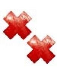 Neva Nude Vixen Red Wet Vinyl X Factor Nipztix Pasties Nipple Covers