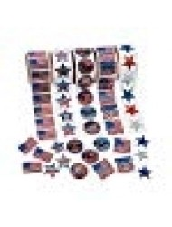 Fun Express Patriotic Rolls Of Stickers Assortment - 5 Rolls