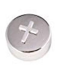 Round Plated Non-Tarnish Nickel Cross Rosary Box