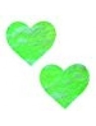 Neva Nude Neon Lime Green Sherbert Lace I Heart U Nipztix Pasties Nipple Covers
