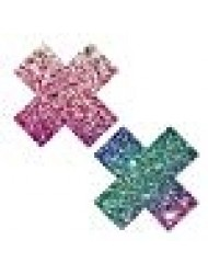 Neva Nude Super Sparkle Rock Kandi Glitter X Factor Nipztix Pasties Nipple Covers