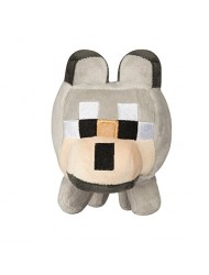 "JINX Minecraft Happy Explorer Untamed Wolf Plush Stuffed Toy Grey, 5.5"" Tall"
