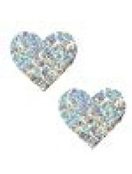 Neva Nude Unicorn Tears White Sequin I Heart U Nipztix Pasties Nipple Covers