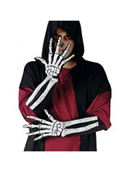 Skeleton Glove And Wrist Bone Adult Accessory