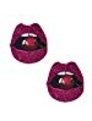 Neva Nude Pink Glitter Poppin' Cherries Lip Nipztix Pasties Nipple Covers