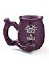 Premium Roast and Toast Novelty Mug Purple with White Print