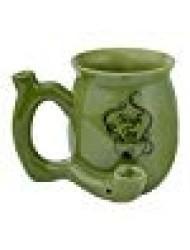 High Tea Novelty Mug Green with Black Imprint