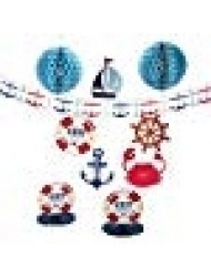 Nautical Baby Shower Decorating Kit - 10 Pieces