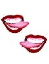 Neva Nude Red Glitter Lip Nipztix Pasties Nipple Covers