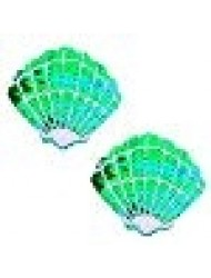 Ariel Green Mermaid Sequin Shell Nipztix Pasties Nipple Covers