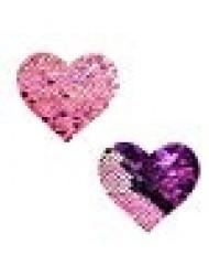 Neva Nude My Lil Pony Pink Iridescent Purple Flip Sequin I Heart U Nipztix Pasties Nipple Covers