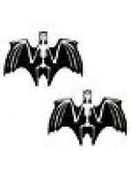 Neva Nude Freaking Awesome Glitter Glow Blacklight Bat Nipztix Pasties Nipple Covers