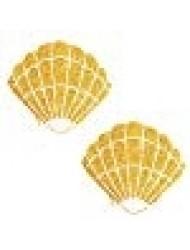 Gold Fairy Dust Glitter Mermaid Shell Nipztix Pasties Nipple Covers