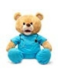 "Cuddle Barn | Feel Good Glenn 10"" Bear Animated Stuffed Animal Plush Toy 