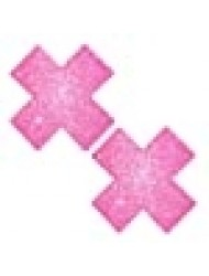Neva Nude Sparkle Pony Pink Glitter X Factor Nipztix Pasties Nipple Covers for Festivals, Raves, Parties, Lingerie and More, Medical Grade Adhesive, Waterproof and Sweatproof, Made in USA