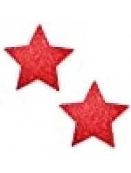 Neva Nude Ravish Me Red Glitter Starry Nights Nipztix Pasties Nipple Covers for Festivals, Raves, Parties, Lingerie and More, Medical Grade Adhesive, Waterproof and Sweatproof, Made in USA