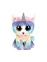 TTy Beanie Baby Soft Toy Multicoloured, ty36250 Heather The Unicorn Cat 15cm