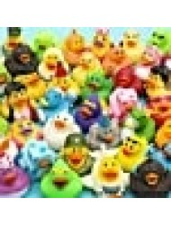 Rhode Island Novelty 2 Inch Rubber Ducky Assortment, 50 Pieces per Order