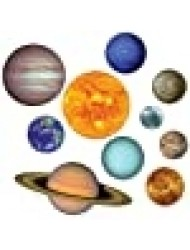 Beistle Planets Outer Space Cutouts-10 Pcs, RED, Blue, 10 Pieces