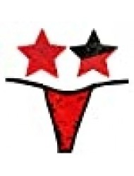 Neva Nude Naughty Knix Sookie Flip Sequin G-String Thong With Matching Nipztix Pasties