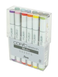 Copic Markers 12-Piece Sketch Basic Set
