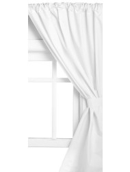 Carnation Home Fashions Vinyl Bathroom Window Curtain, White