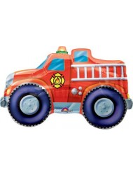 "Fire Truck Shaped 26"" Mylar Balloon"