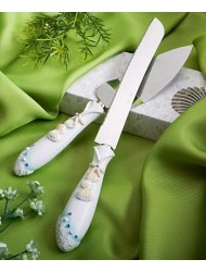 Finishing Touches Collection Beach Themed Wedding Cake Knife And Server Set, 1 piece