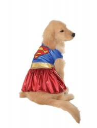 Rubies Costume DC Heroes and Villains Collection Pet Costume, Medium, Supergirl