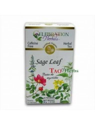 Celebration Herbals Organic Sage Leaf Caffeine Free - 24 Tea Bags