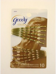 Goody Color Collection Wavy Bobby Slides, Blonde, 10 Pcs