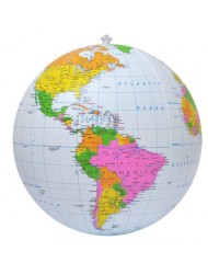 Jet Creations Inflatable Political Globe, 16-Inch