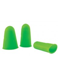 3pk NoGoo Silicone Fingertips - Green color