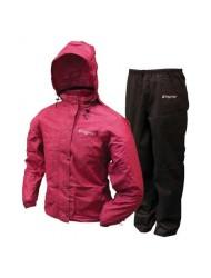 Frogg Toggs Women's All Purpose Rain Suit - Cherry/Black - Medium