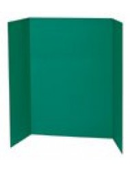 "Spotlight 1 Ply Trifold Display Board, 48"" Width x 36"" Height, Green"