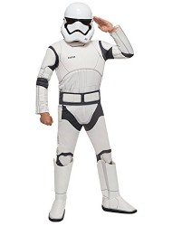 Star Wars VII: The Force Awakens Deluxe Child's Stormtrooper Costume and Mask, Large