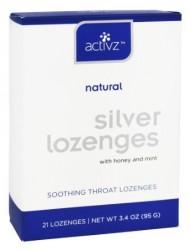Activz 30 PPM Silver Throat Lozenges
