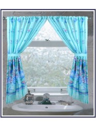 Carnation Home Fashions Fabric Window Curtain - Oceanic
